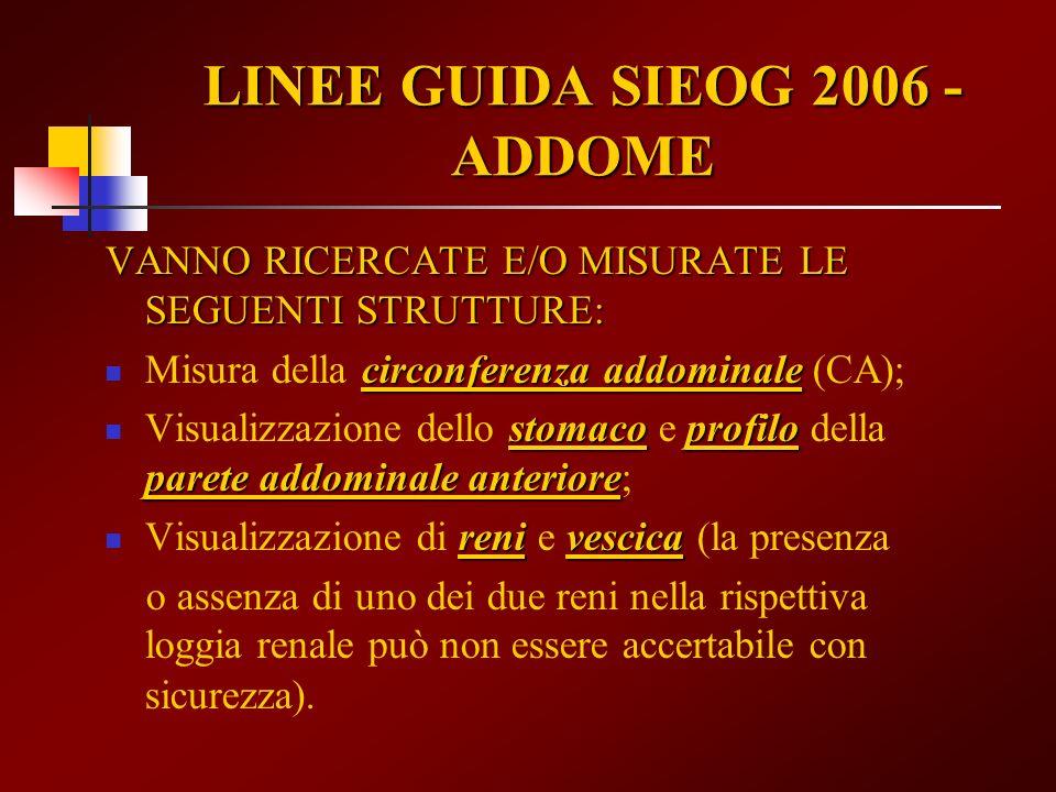 LINEE GUIDA SIEOG 2006 -ADDOME