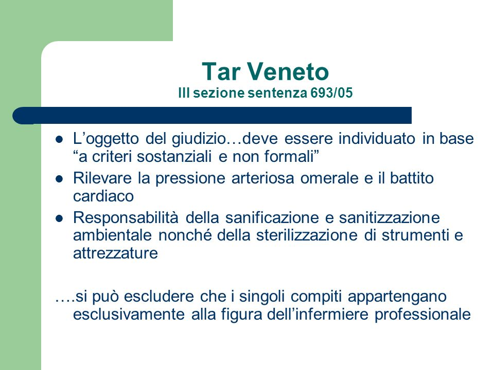 Tar Veneto III sezione sentenza 693/05