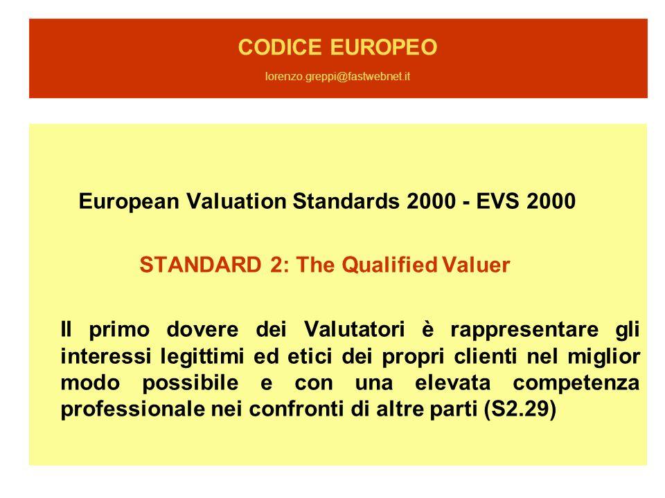 CODICE EUROPEO lorenzo.greppi@fastwebnet.it