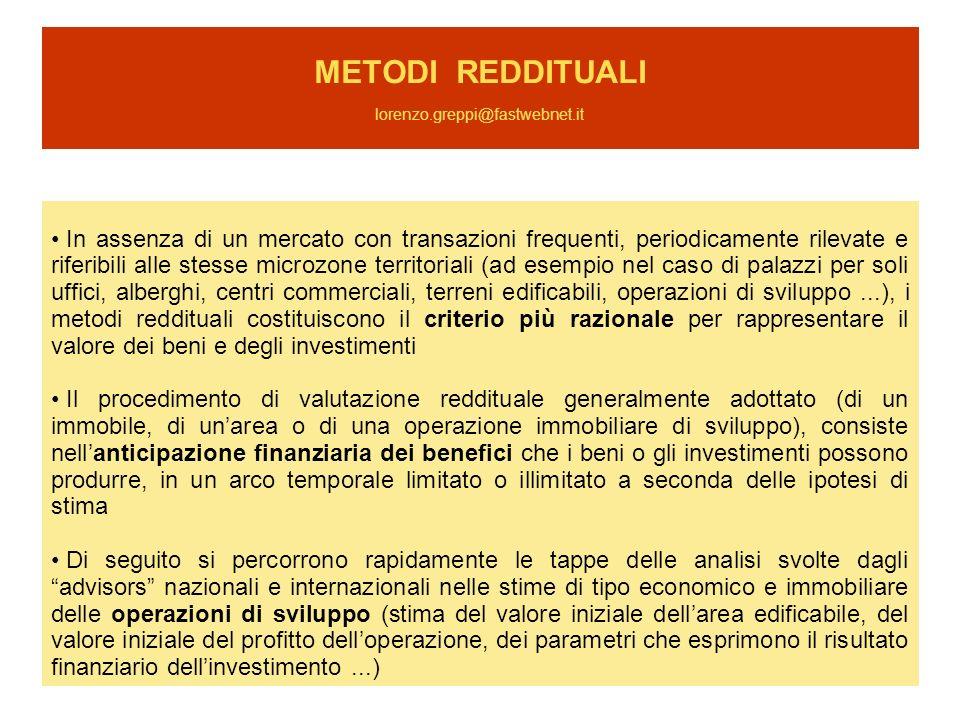 METODI REDDITUALI lorenzo.greppi@fastwebnet.it