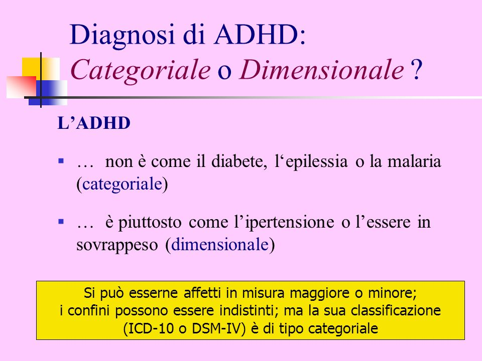 Diagnosi di ADHD: Categoriale o Dimensionale