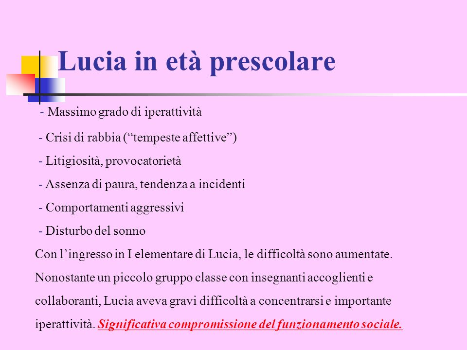 Lucia in età prescolare