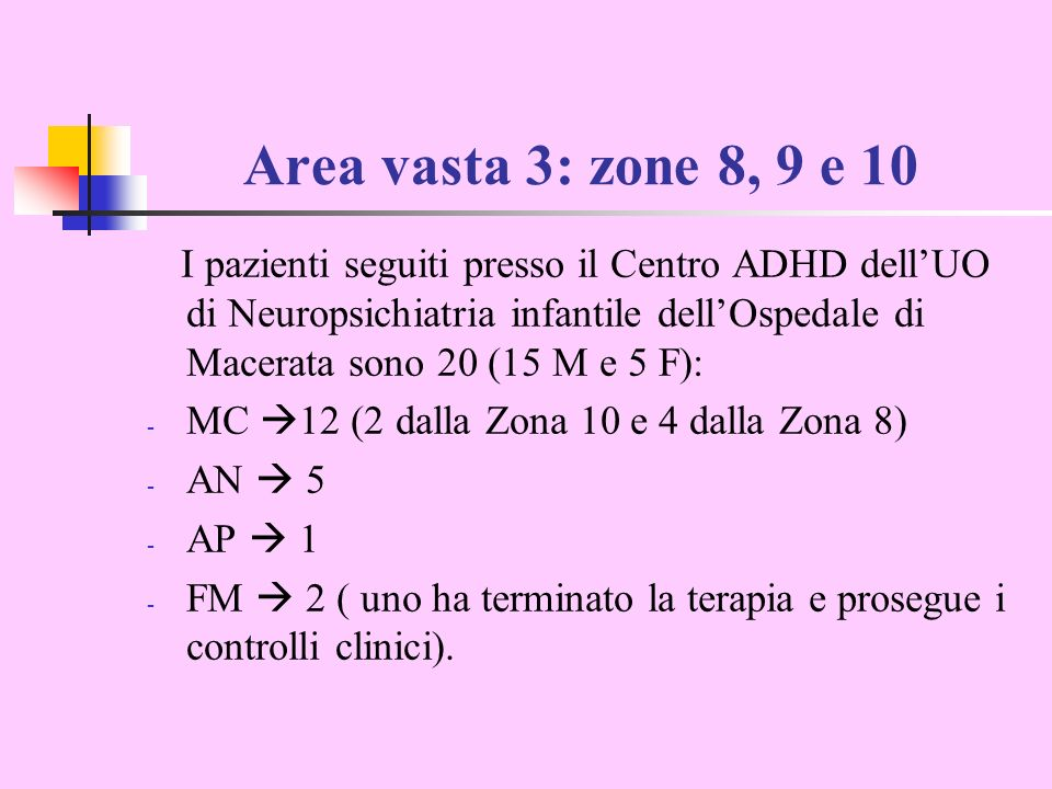 Area vasta 3: zone 8, 9 e 10