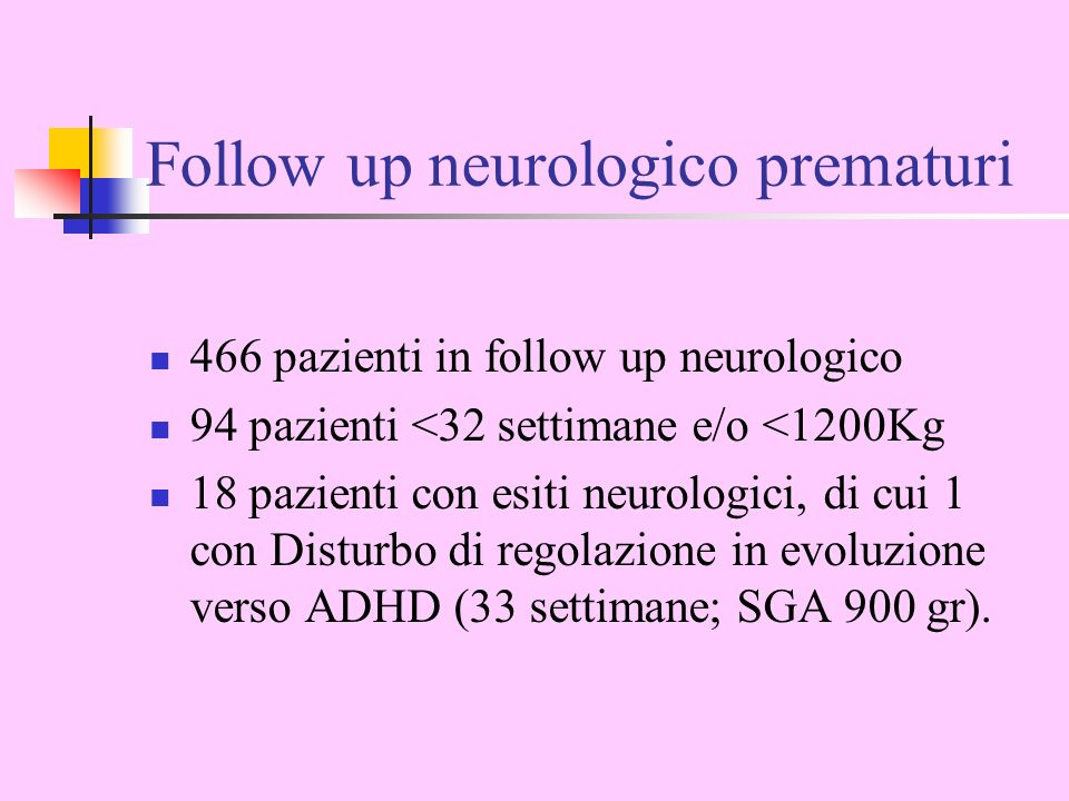 Follow up neurologico prematuri