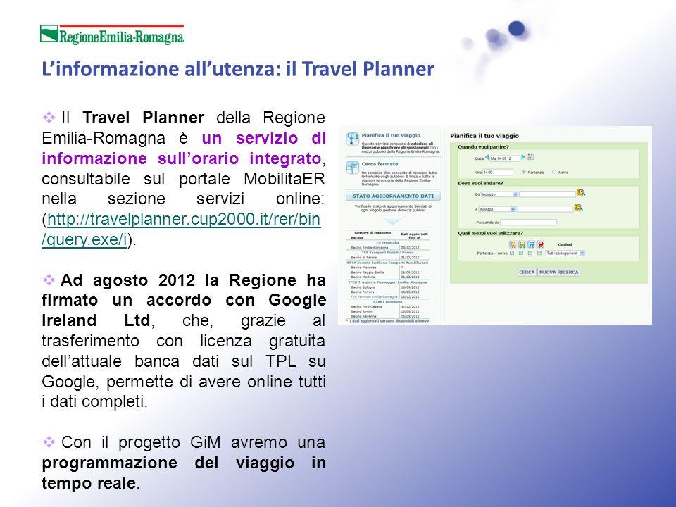 L'informazione all'utenza: il Travel Planner