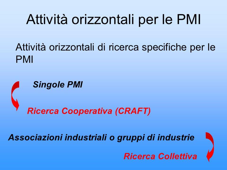 Attività orizzontali per le PMI