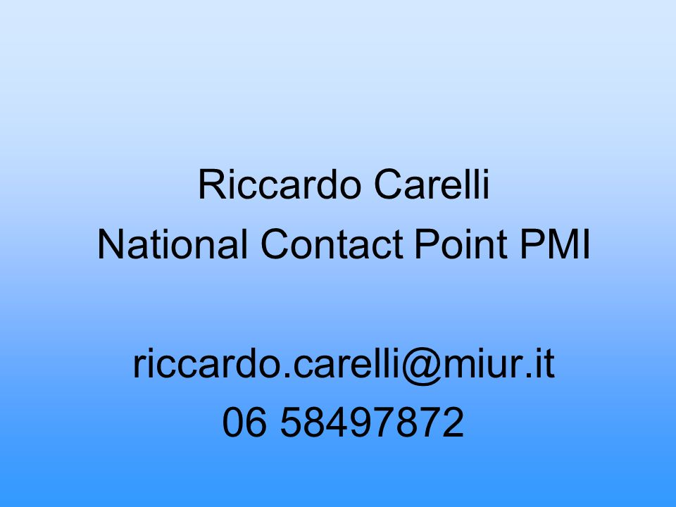 National Contact Point PMI