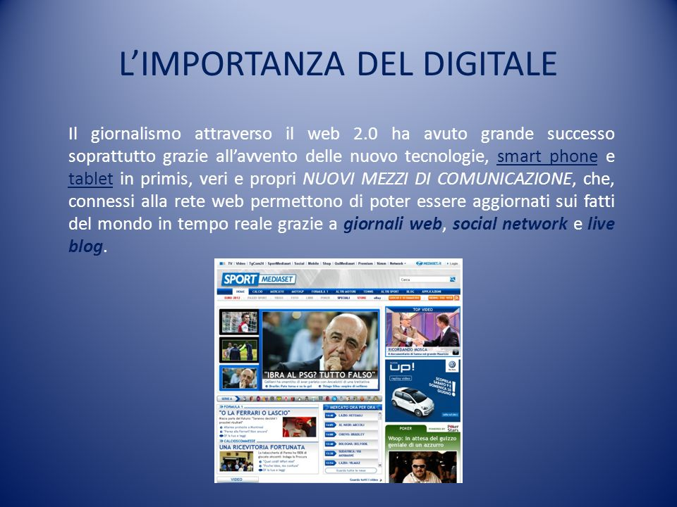 L'IMPORTANZA DEL DIGITALE
