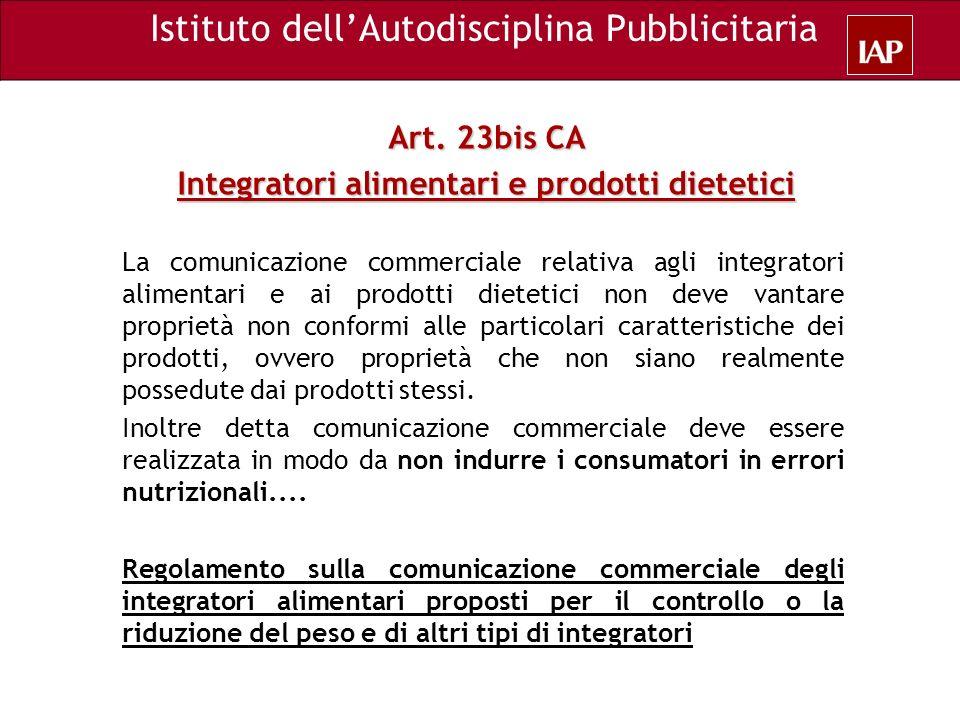 Integratori alimentari e prodotti dietetici