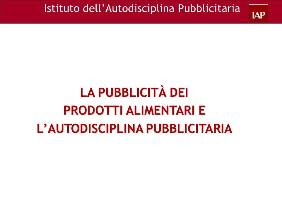 L'AUTODISCIPLINA PUBBLICITARIA