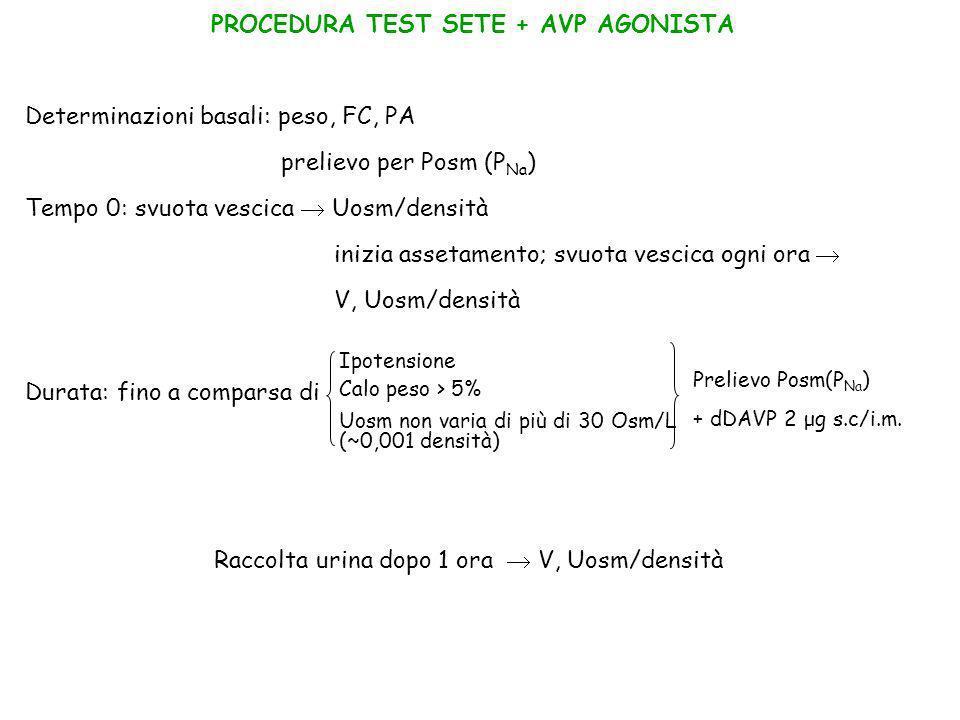 PROCEDURA TEST SETE + AVP AGONISTA