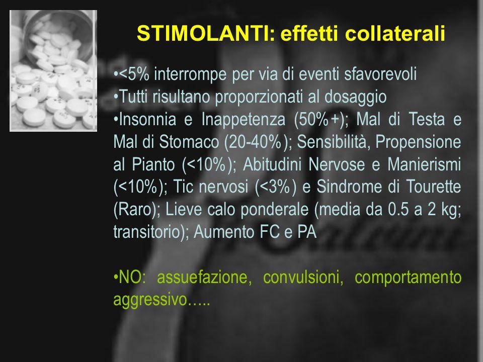 STIMOLANTI: effetti collaterali