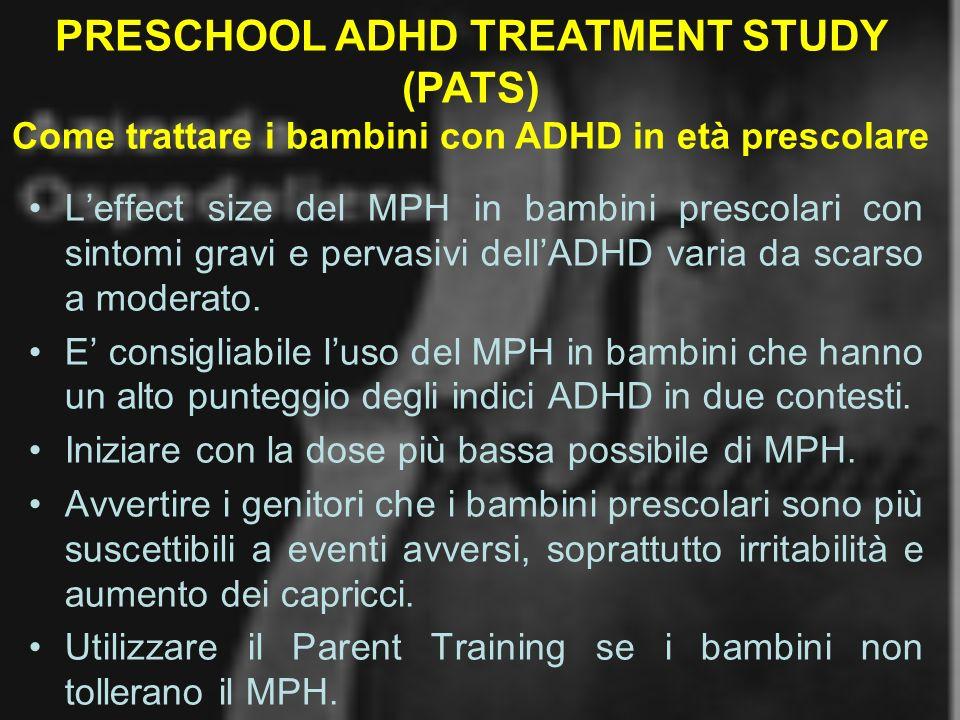PRESCHOOL ADHD TREATMENT STUDY (PATS)