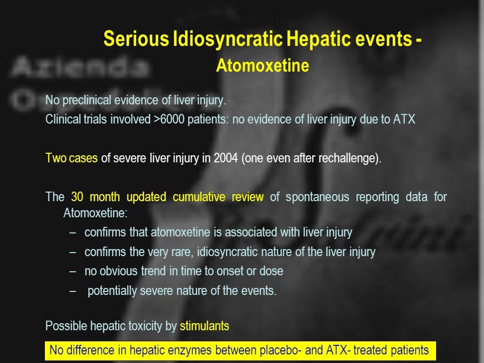 Serious Idiosyncratic Hepatic events - Atomoxetine