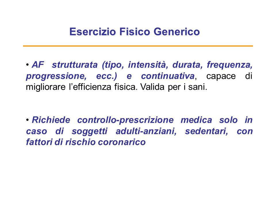 Esercizio Fisico Generico
