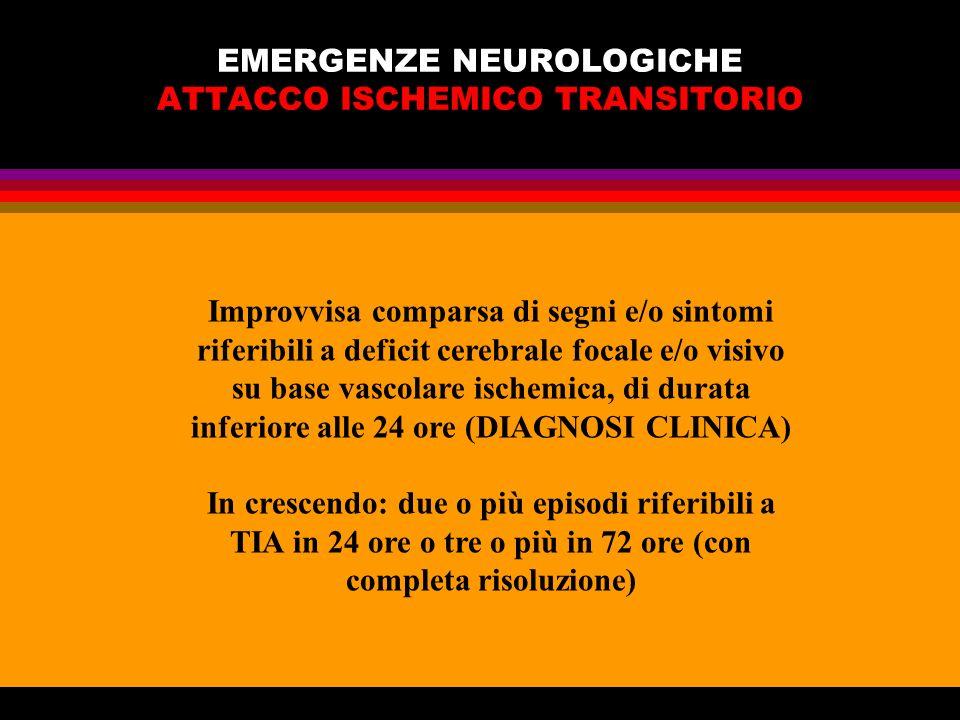 EMERGENZE NEUROLOGICHE ATTACCO ISCHEMICO TRANSITORIO