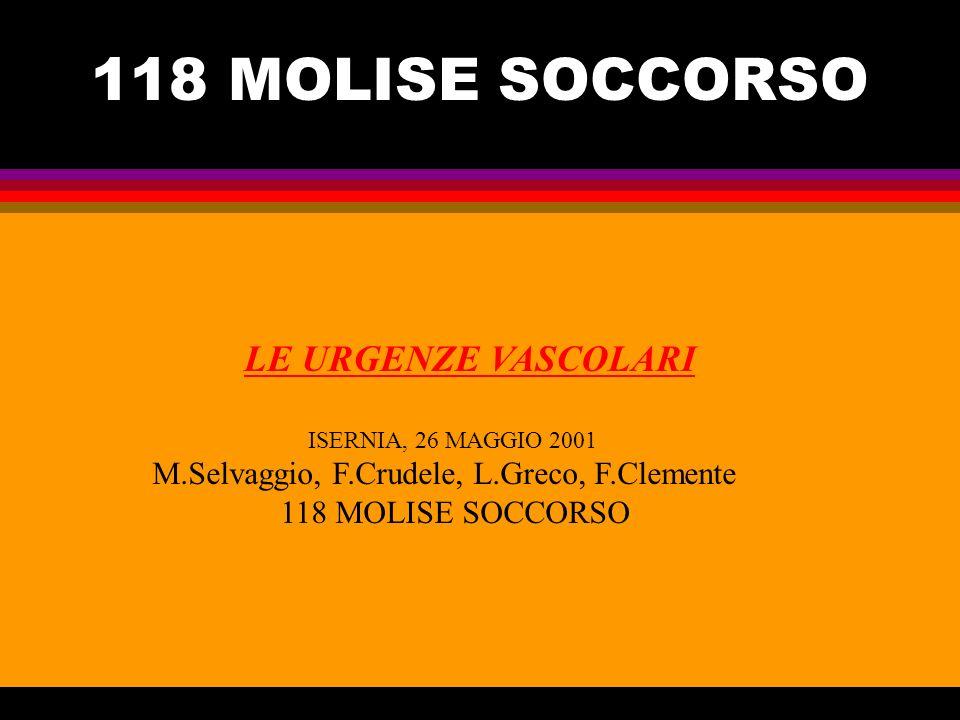 118 MOLISE SOCCORSO M.Selvaggio, F.Crudele, L.Greco, F.Clemente