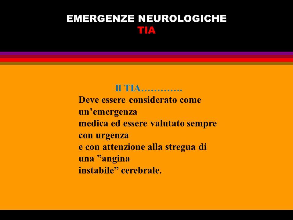 EMERGENZE NEUROLOGICHE TIA
