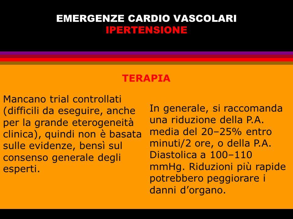 EMERGENZE CARDIO VASCOLARI IPERTENSIONE