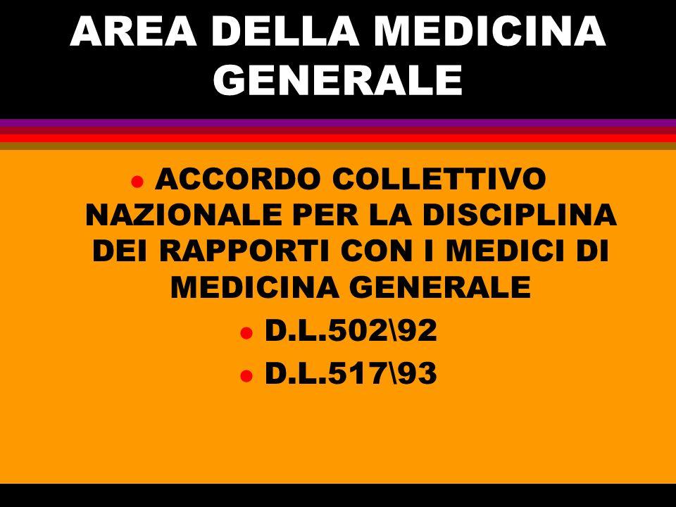 AREA DELLA MEDICINA GENERALE