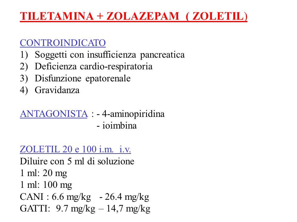 TILETAMINA + ZOLAZEPAM ( ZOLETIL)