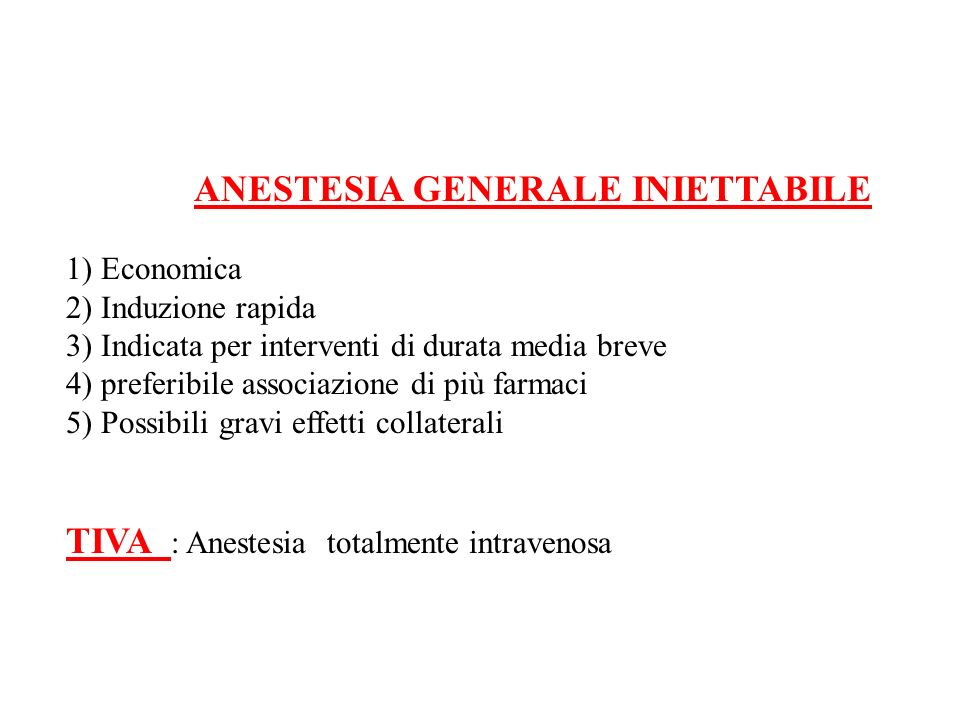 TIVA : Anestesia totalmente intravenosa