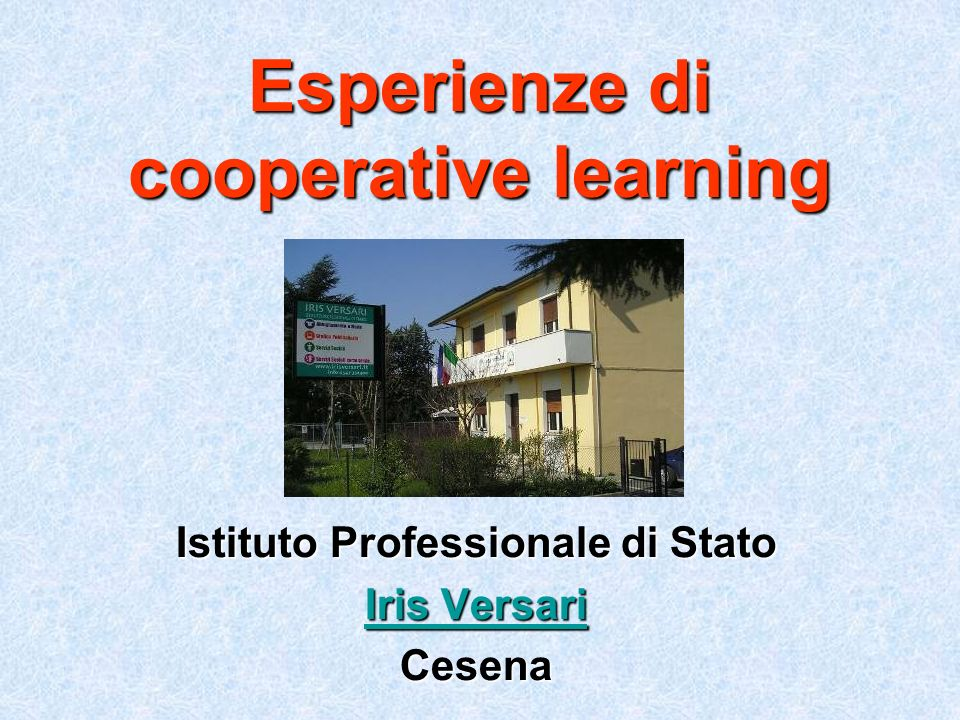 Esperienze di cooperative learning