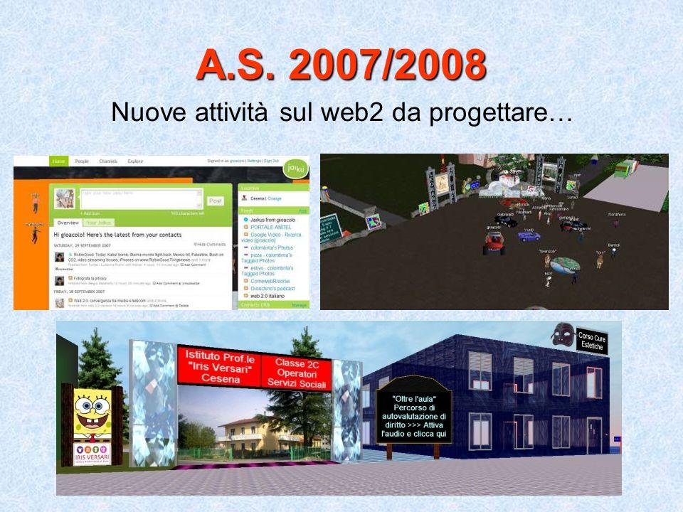 Nuove attività sul web2 da progettare…