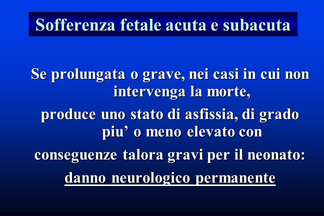 Sofferenza fetale acuta e subacuta