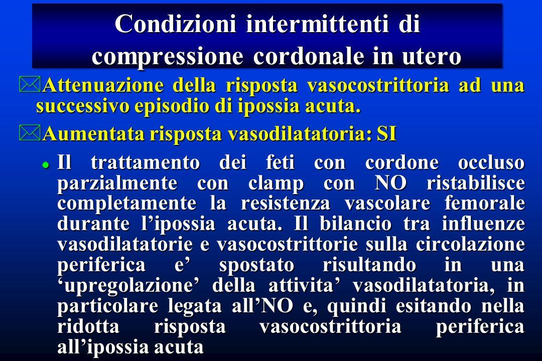 Condizioni intermittenti di compressione cordonale in utero