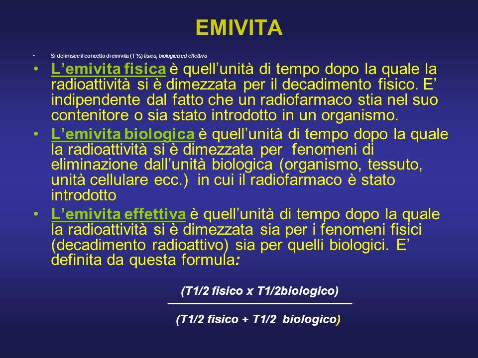 (T1/2 fisico x T1/2biologico)
