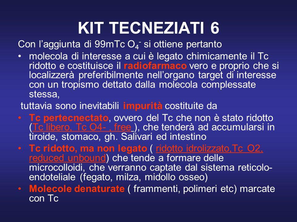 KIT TECNEZIATI 6 Con l'aggiunta di 99mTc O4- si ottiene pertanto