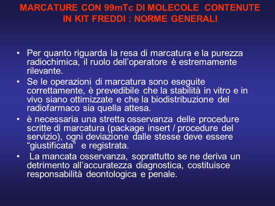 MARCATURE CON 99mTc DI MOLECOLE CONTENUTE IN KIT FREDDI : NORME GENERALI