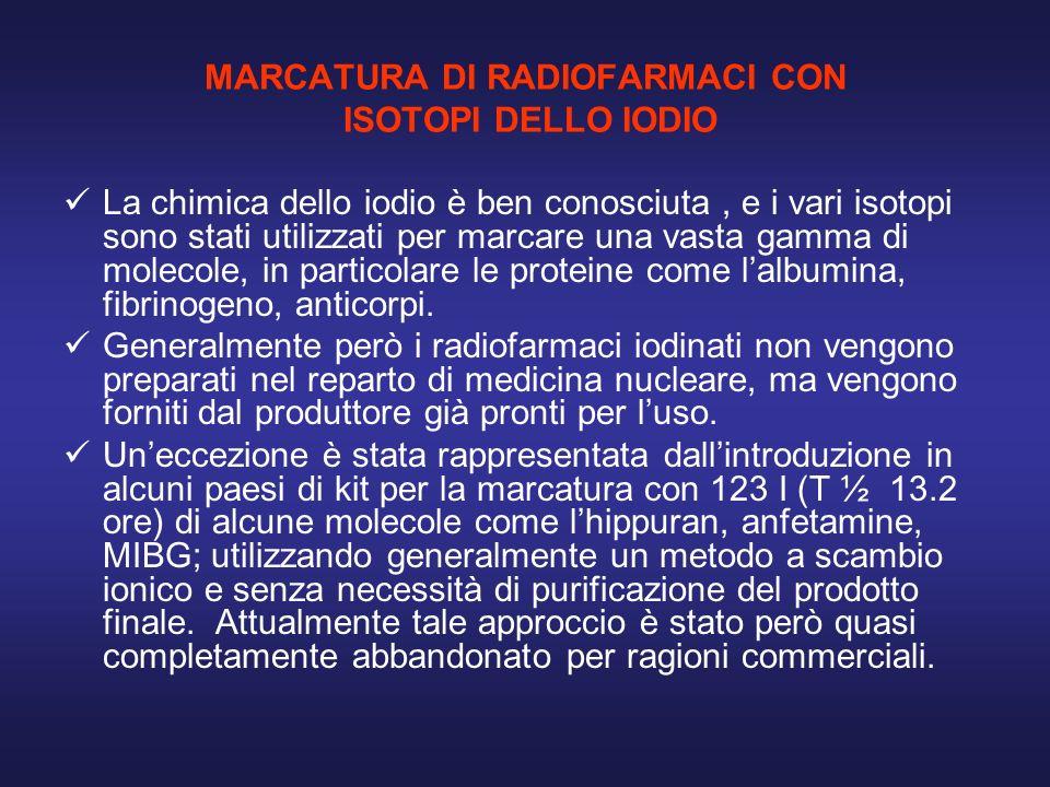 MARCATURA DI RADIOFARMACI CON ISOTOPI DELLO IODIO