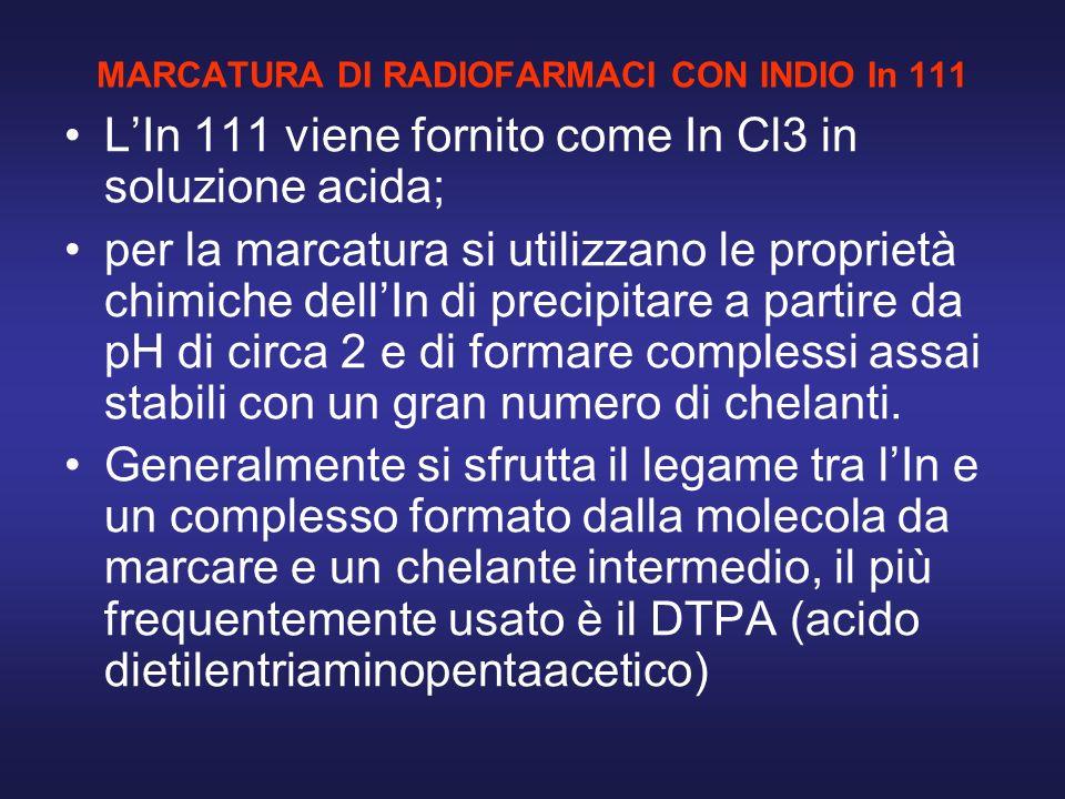 MARCATURA DI RADIOFARMACI CON INDIO In 111