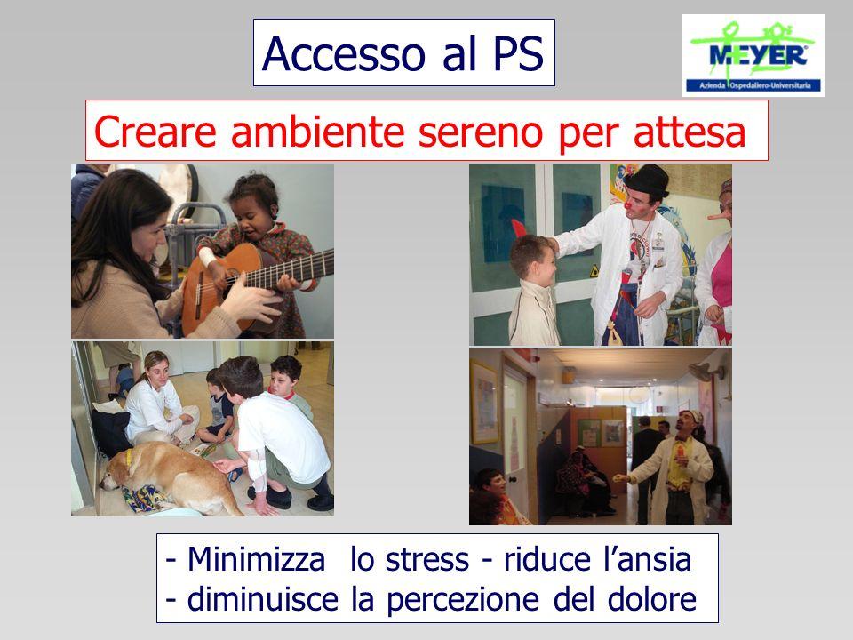 Accesso al PS Creare ambiente sereno per attesa