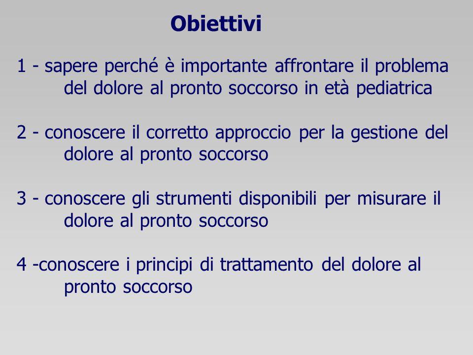 Obiettivi 1 - sapere perché è importante affrontare il problema