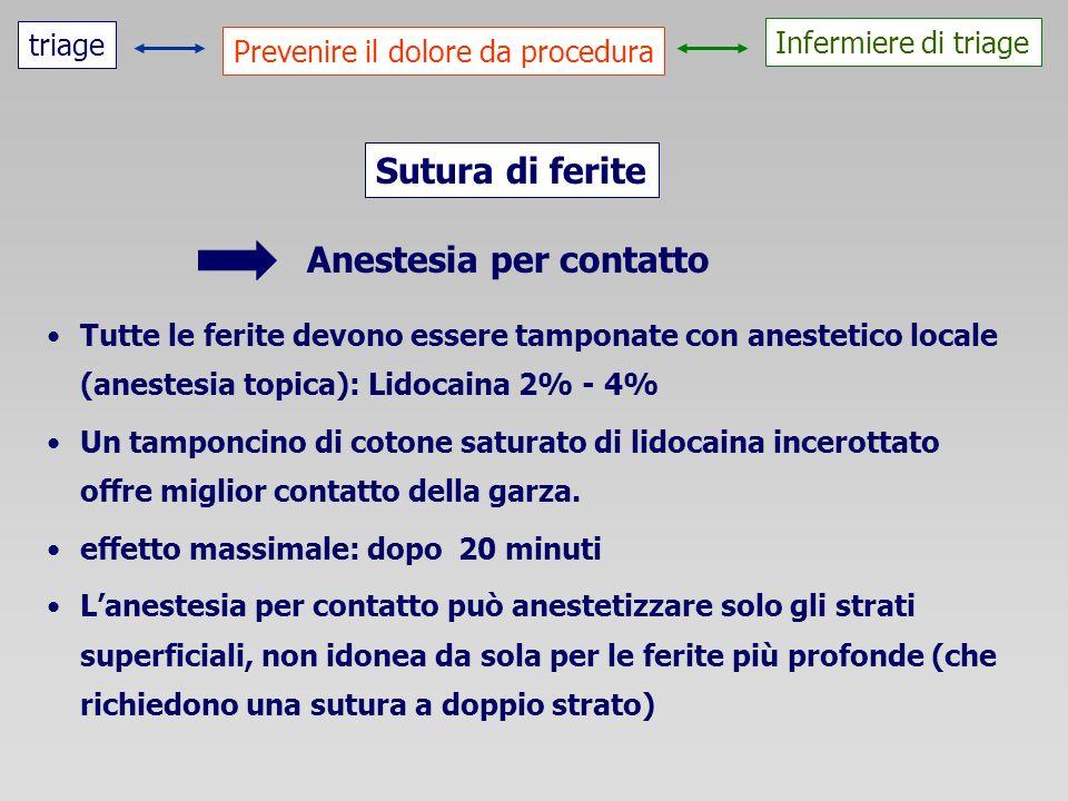Anestesia per contatto