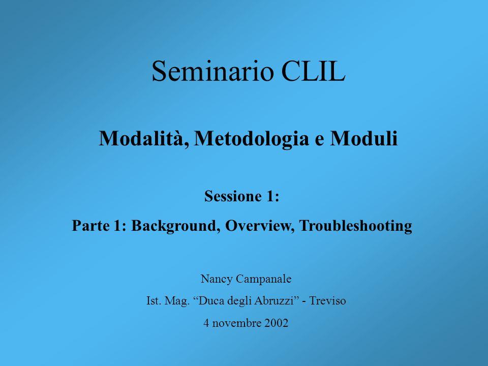 Modalità, Metodologia e Moduli