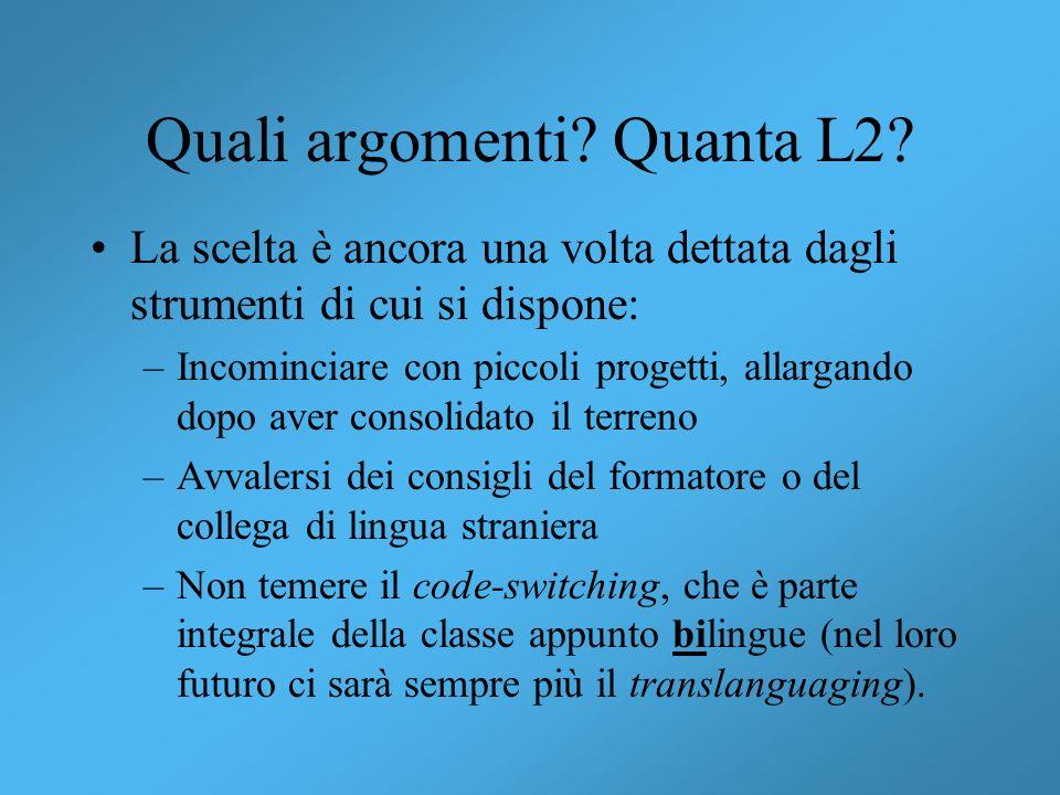 Quali argomenti Quanta L2