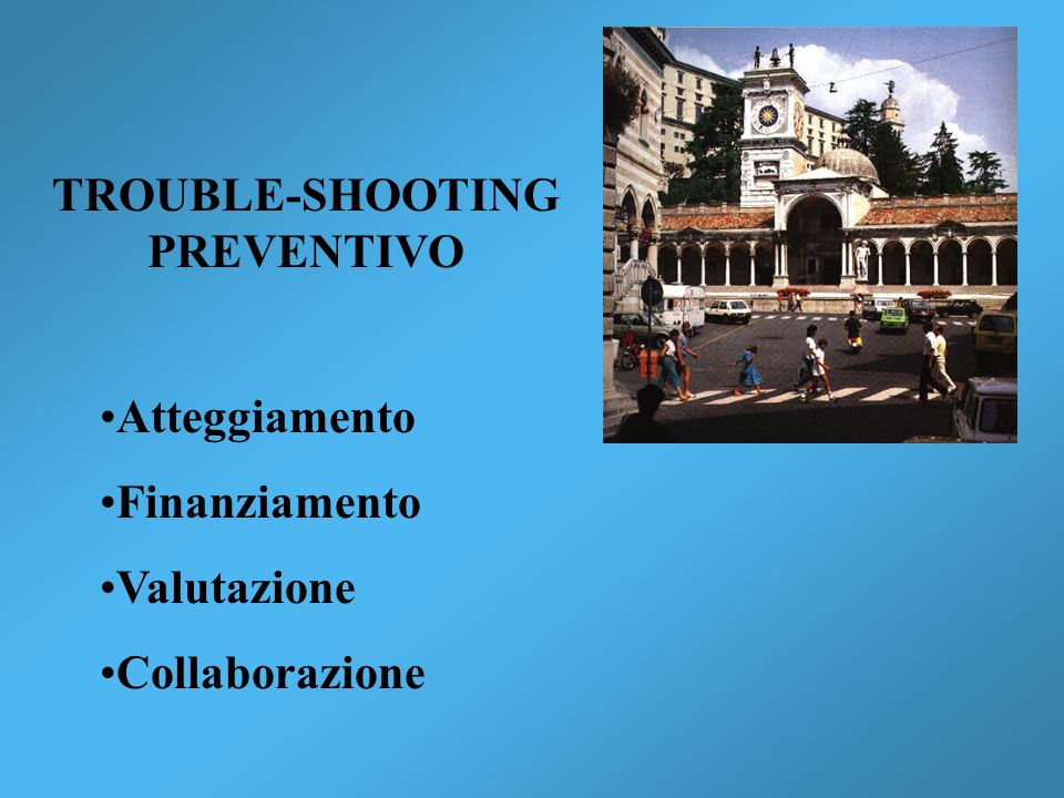 TROUBLE-SHOOTING PREVENTIVO