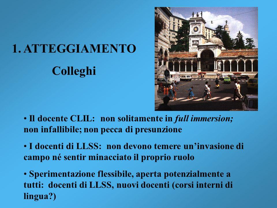 1. ATTEGGIAMENTO Colleghi