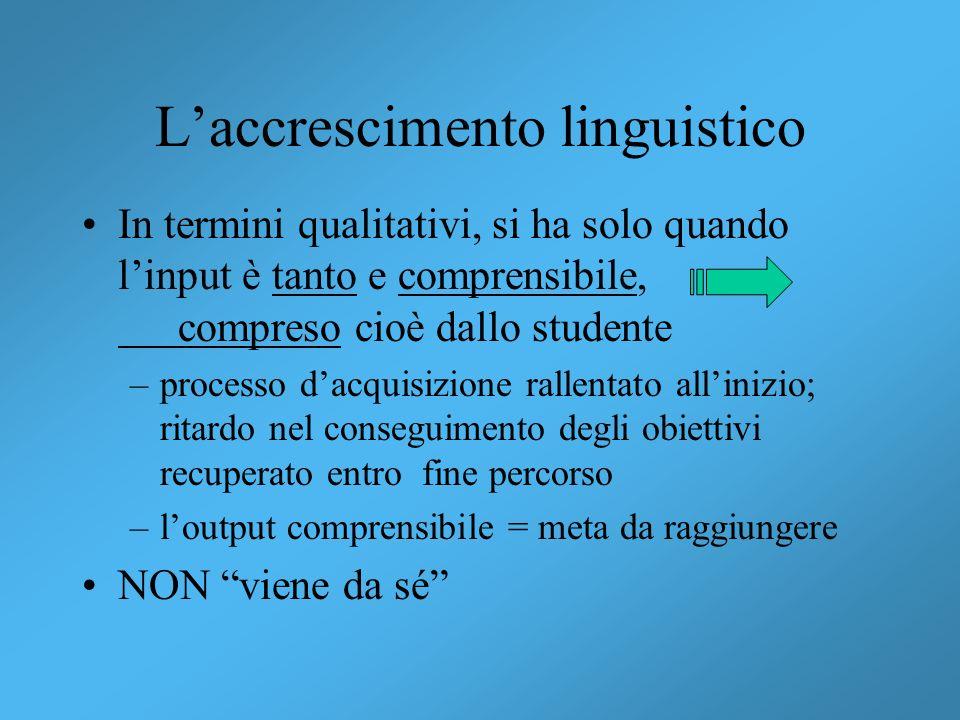 L'accrescimento linguistico