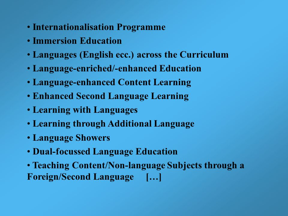 Internationalisation Programme