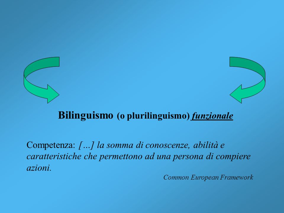 Bilinguismo (o plurilinguismo) funzionale