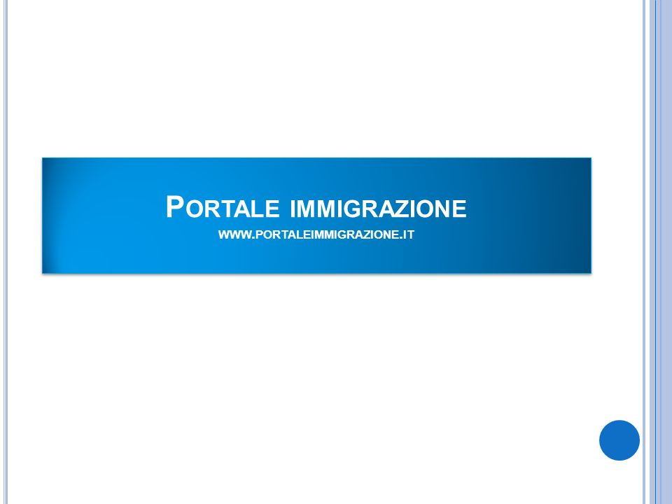 Portale immigrazione www.portaleimmigrazione.it