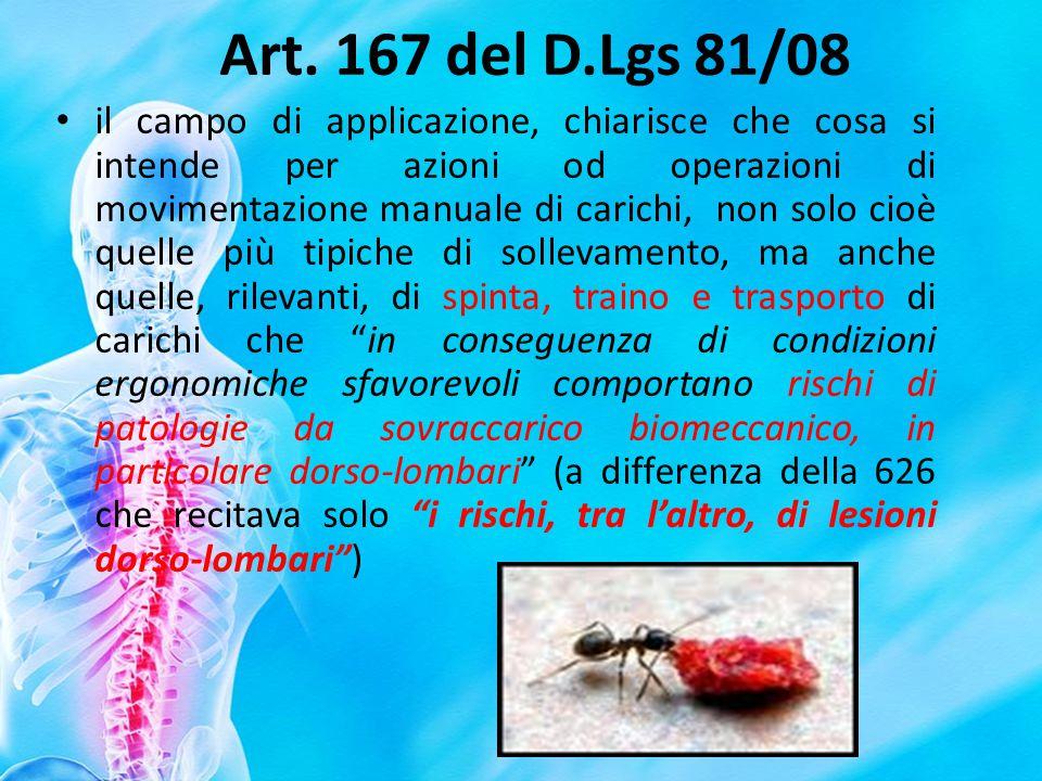 Art. 167 del D.Lgs 81/08