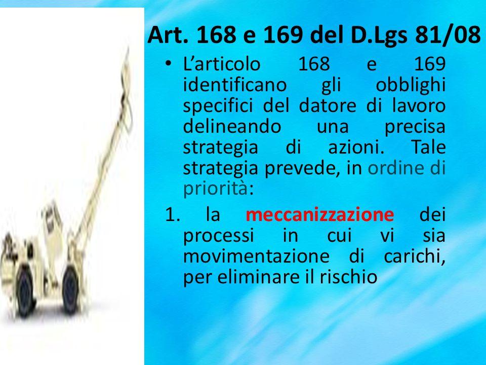 Art. 168 e 169 del D.Lgs 81/08
