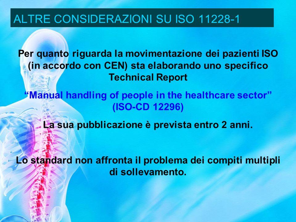 ALTRE CONSIDERAZIONI SU ISO 11228-1