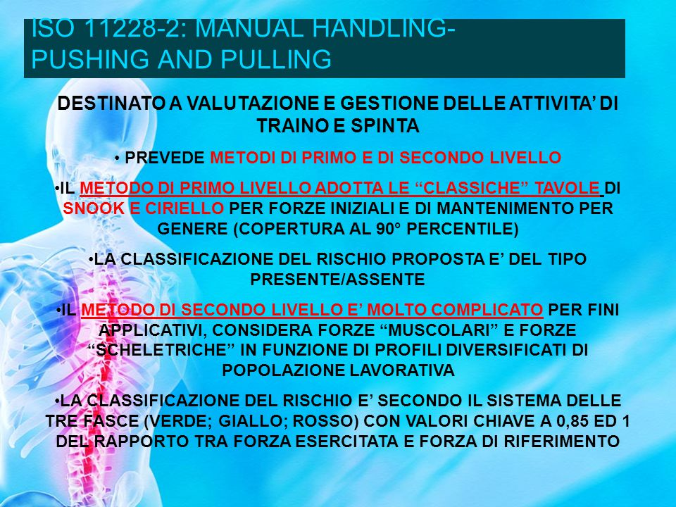 ISO 11228-2: MANUAL HANDLING- PUSHING AND PULLING